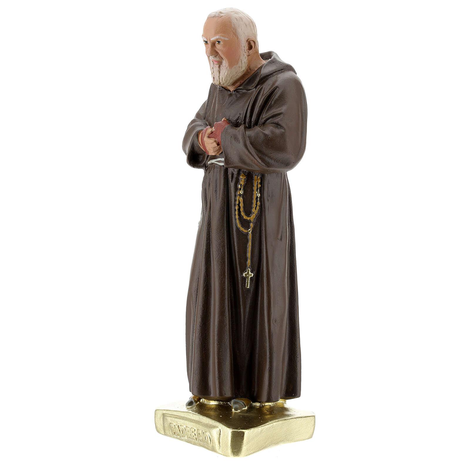 Saint Father Pio statue, 30 cm in hand colored plaster Barsanti 4