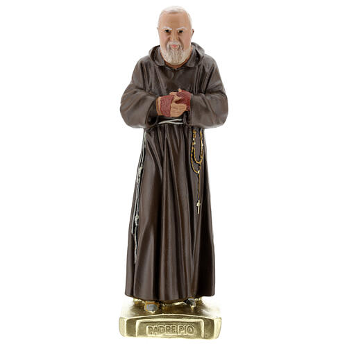 Saint Father Pio statue, 30 cm in hand colored plaster Barsanti 1