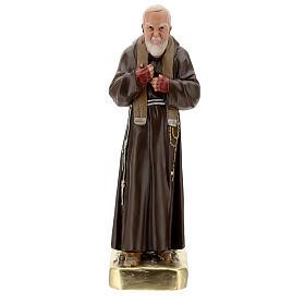 Estatua Padre Pío 60 cm yeso pintado a mano Barsanti s1