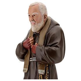 Estatua Padre Pío 60 cm yeso pintado a mano Barsanti s2