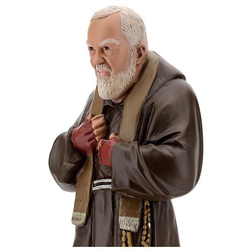 Estatua Padre Pío 60 cm yeso pintado a mano Barsanti 2