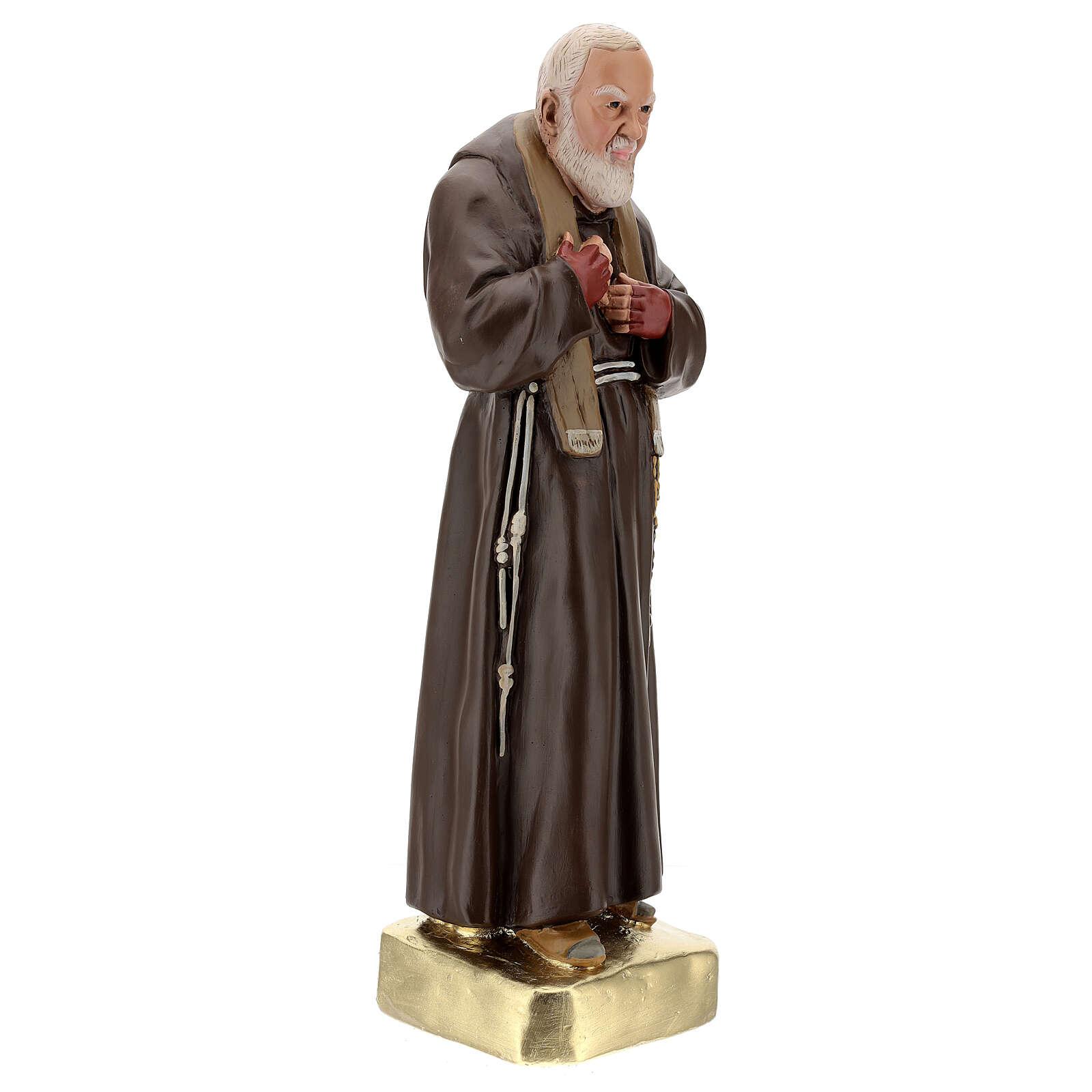 Statue Padre Pio 60 cm plâtre peint main Barsanti 4
