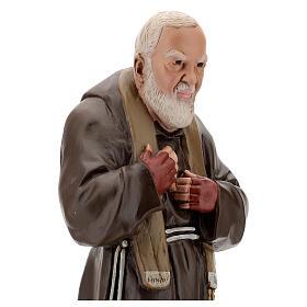 Statue Padre Pio 60 cm plâtre peint main Barsanti s4