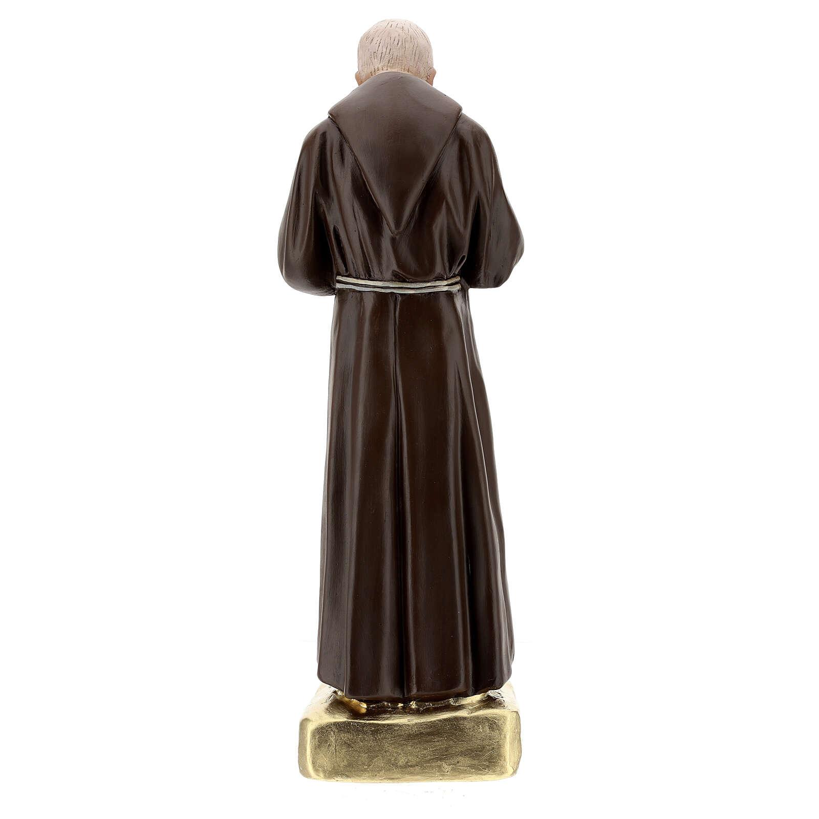 Padre Pio statue, 60 cm hand painted plaster Barsanti 4