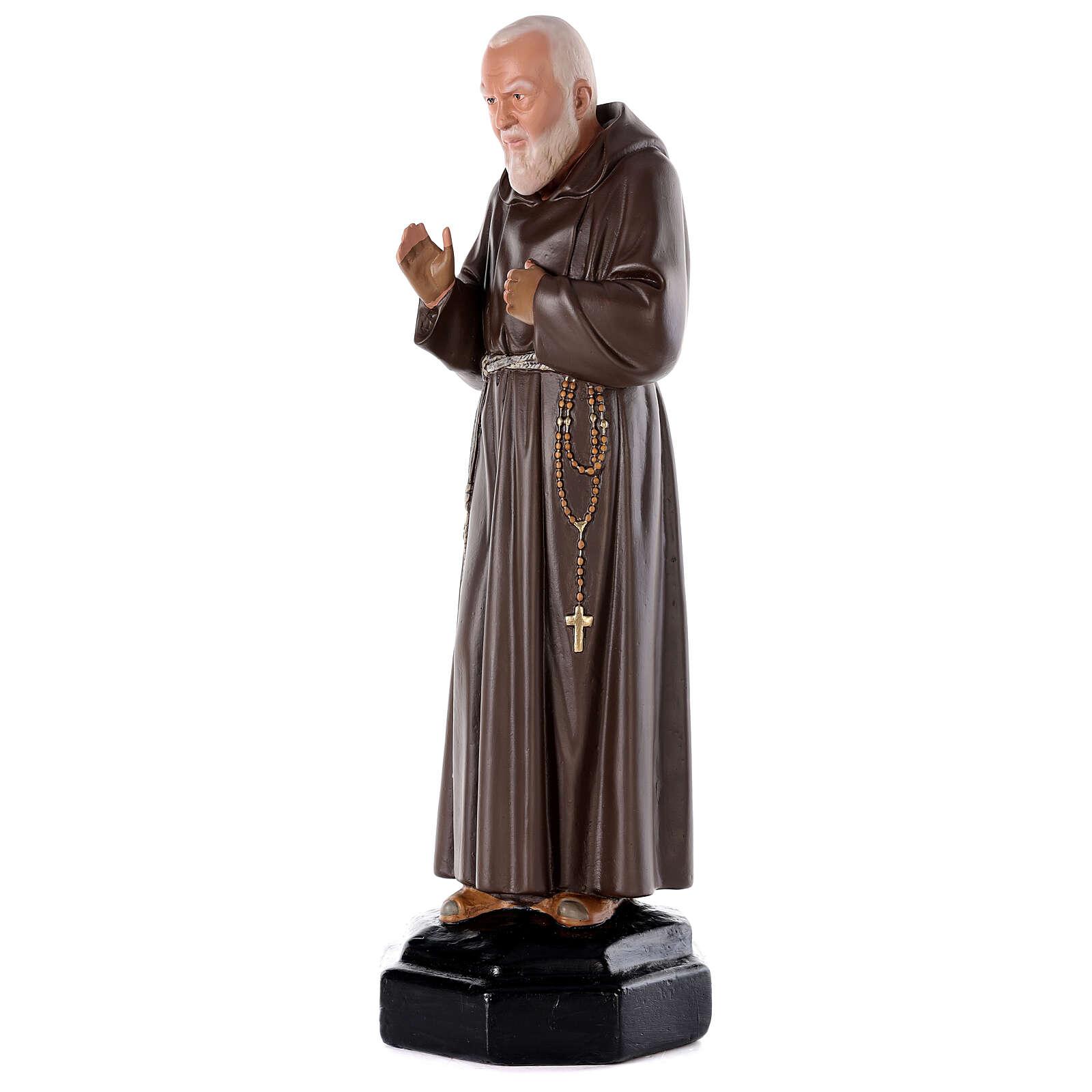 Padre Pío 80 cm yeso pintado a mano Arte Barsanti 4
