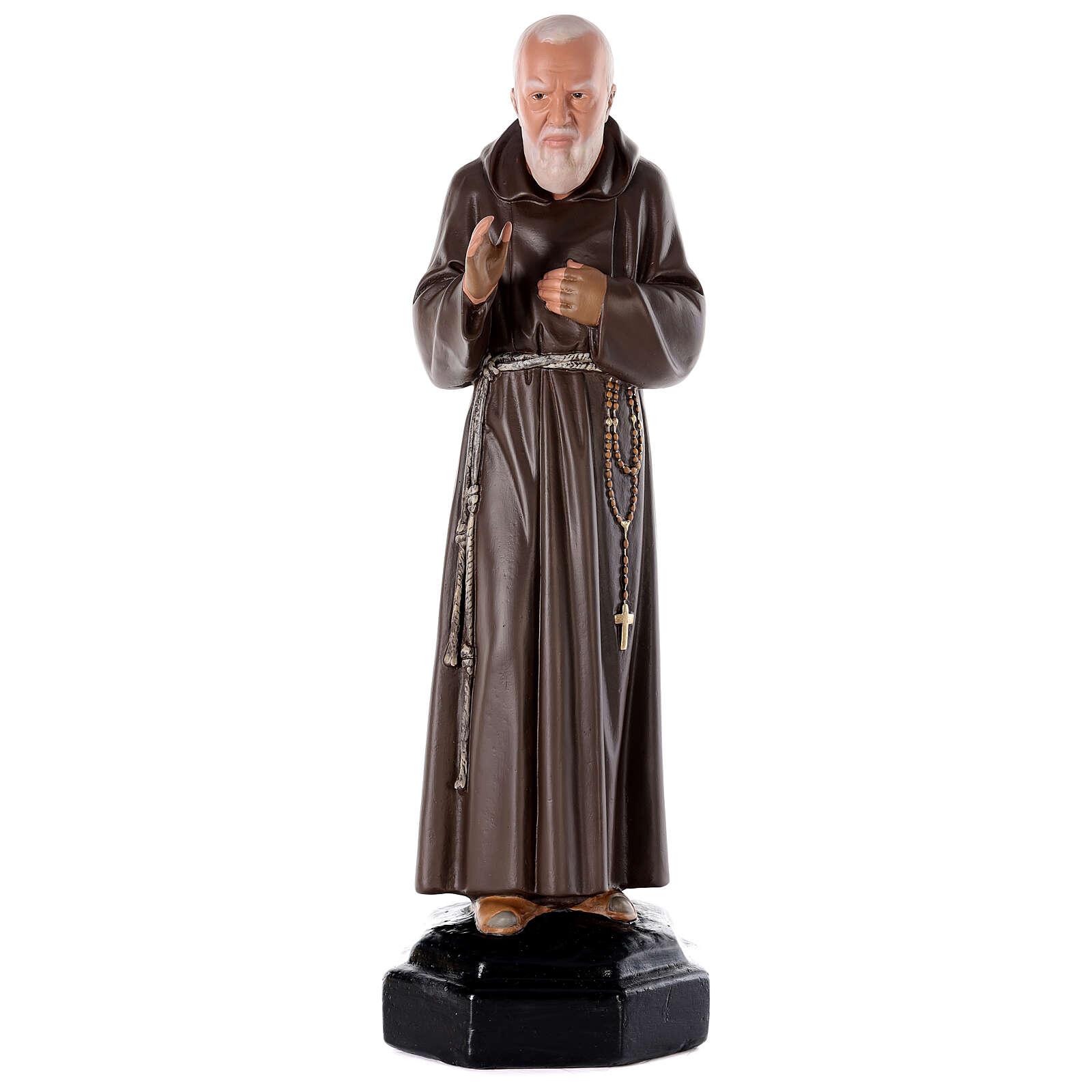 Padre Pio 80 cm gesso dipinto a mano Arte Barsanti 4