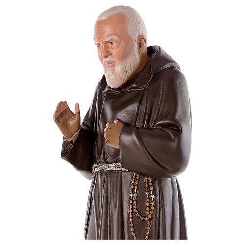 Padre Pio 80 cm gesso dipinto a mano Arte Barsanti 2
