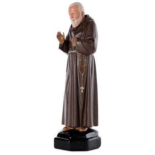 Padre Pio 80 cm gesso dipinto a mano Arte Barsanti 3