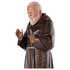 Padre Pio statue, 80 cm hand painted plaster Arte Barsanti s2