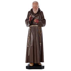 Statue Padre Pio résine 80 cm peinte à la main Arte Barsanti s1