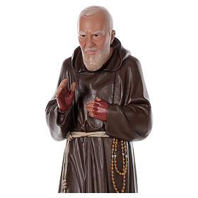 Statue Padre Pio résine 80 cm peinte à la main Arte Barsanti s2
