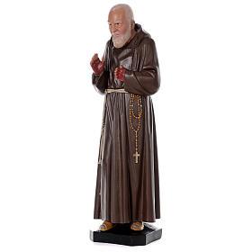 Statue Padre Pio résine 80 cm peinte à la main Arte Barsanti s3