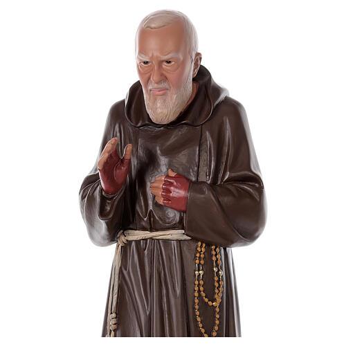 Statua Padre Pio resina 80 cm dipinta a mano Arte Barsanti 2