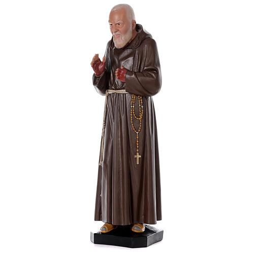 Statua Padre Pio resina 80 cm dipinta a mano Arte Barsanti 3