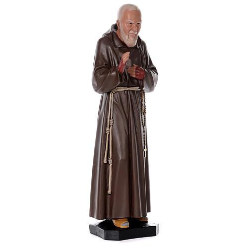 Statua Padre Pio resina 80 cm dipinta a mano Arte Barsanti 4