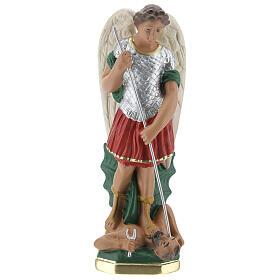 Estatua San Miguel 20 cm yeso pintada a mano Barsanti s1