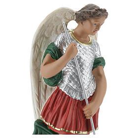Estatua San Miguel 20 cm yeso pintada a mano Barsanti s2