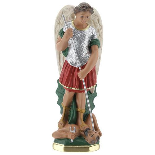 Statuette Saint Michel 20 cm plâtre peint à la main Barsanti 1