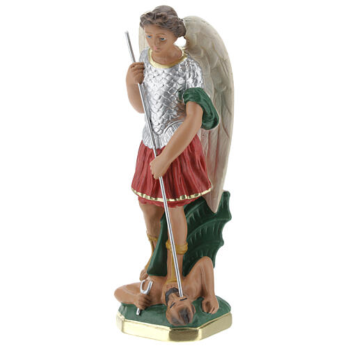Statuetta San Michele 20 cm gesso dipinta a mano Barsanti 3