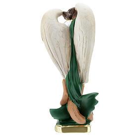 San Michele statua gesso 30 cm pittura a mano Barsanti s6
