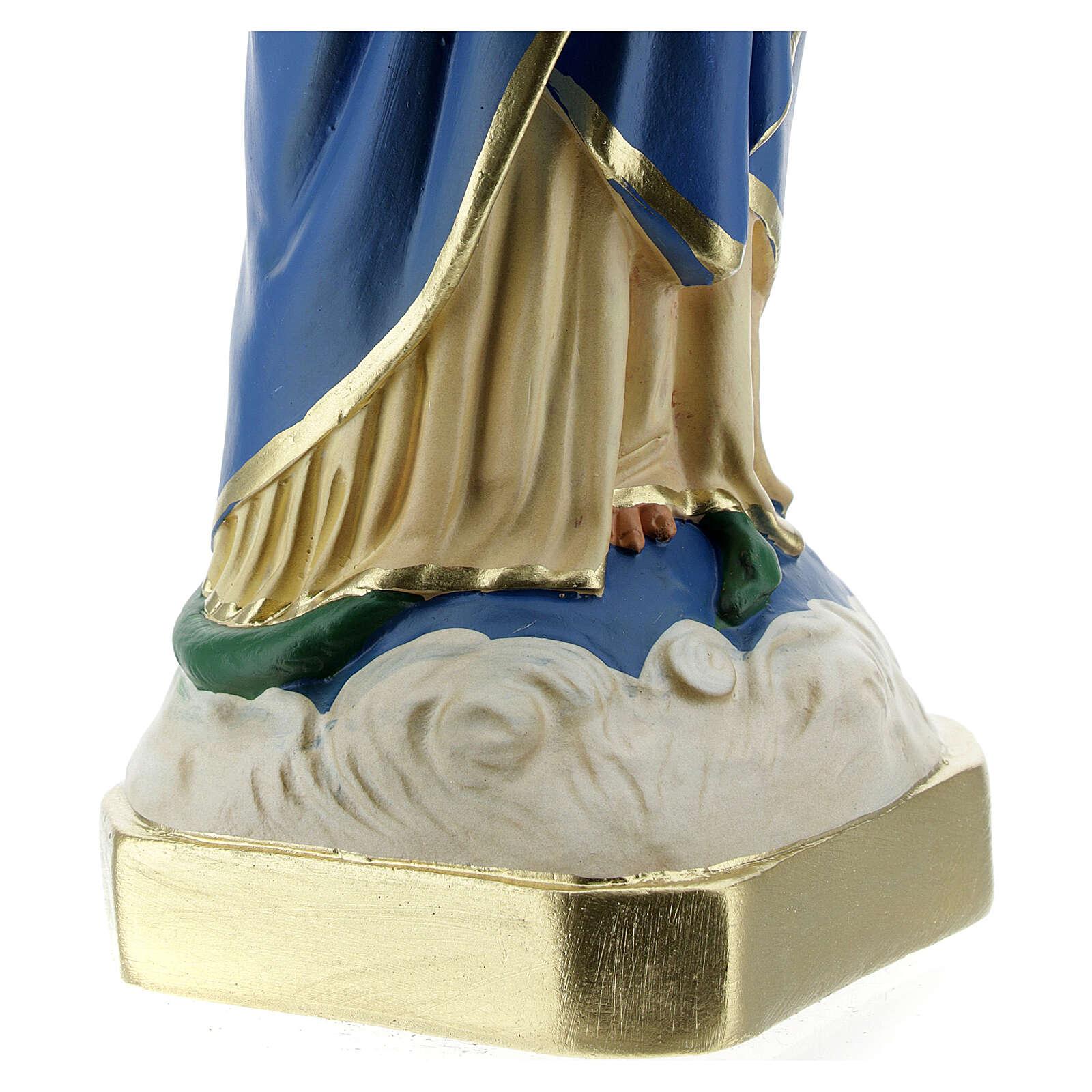 Estatua Virgen Inmaculada manos juntas 30 cm yeso Barsanti 4