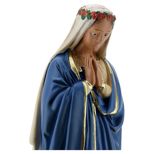 Estatua Virgen Inmaculada manos juntas 30 cm yeso Barsanti 2