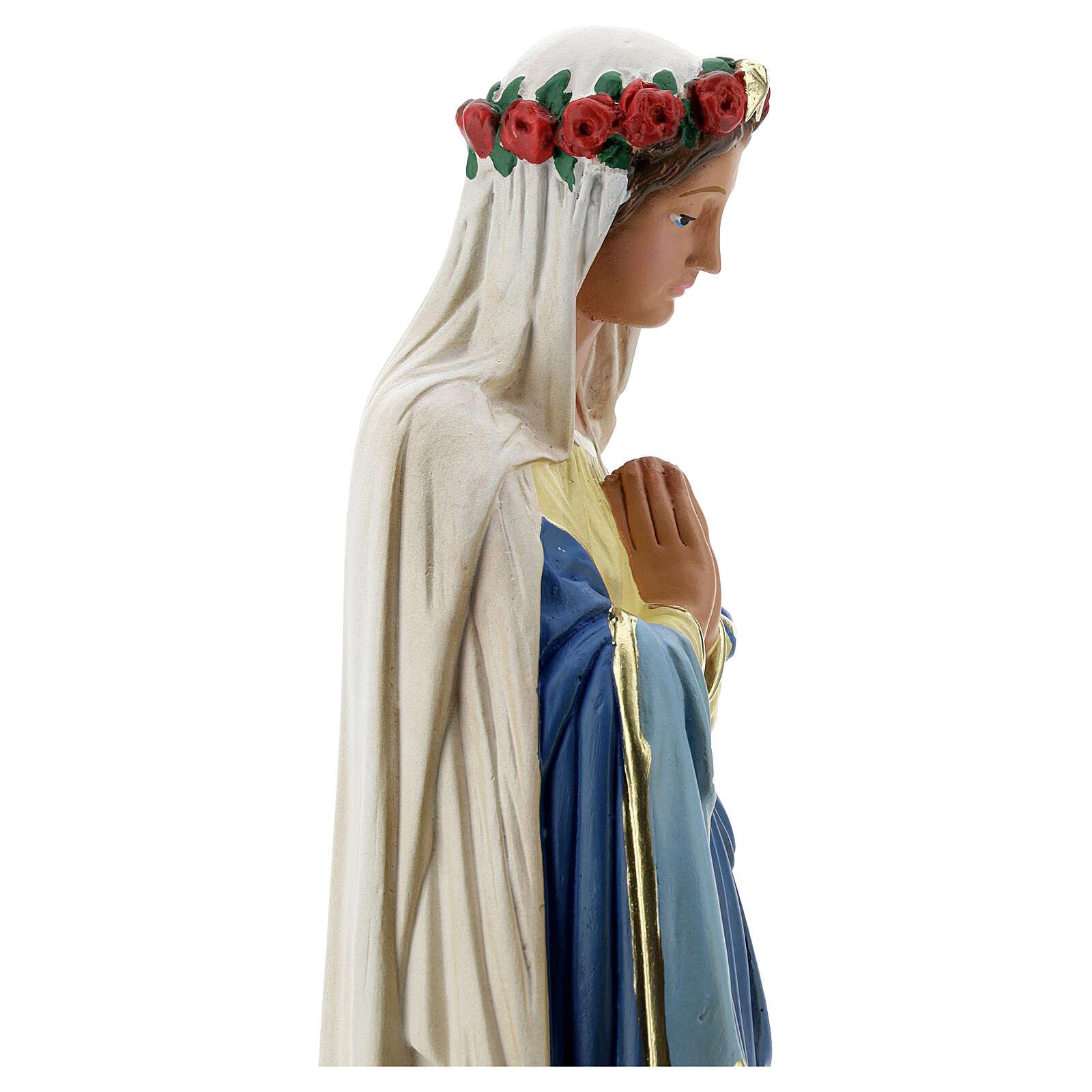 Immaculée Conception 40 cm statue plâtre mains jointes Barsanti 4