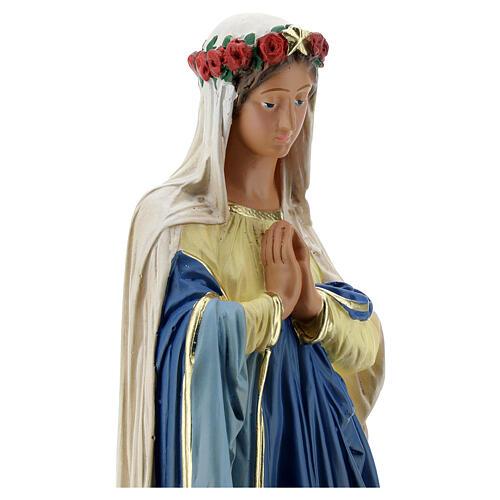 Immaculée Conception 40 cm statue plâtre mains jointes Barsanti 2