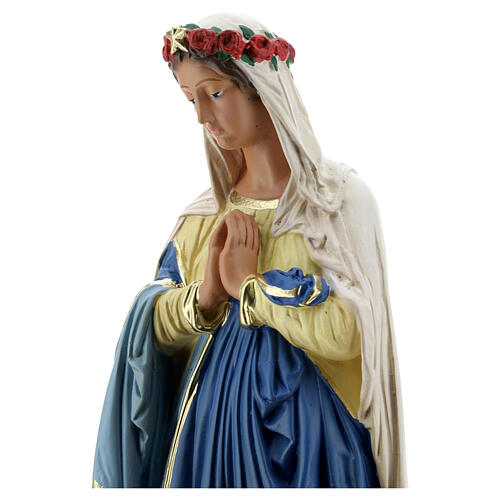 Immaculée Conception 40 cm statue plâtre mains jointes Barsanti 5