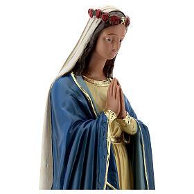 Vierge Immaculée mains jointes statue 50 cm plâtre Barsanti s4