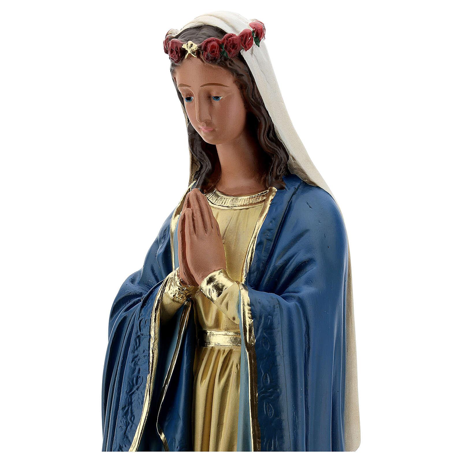 Madonna Immacolata mani giunte statua 50 cm gesso Barsanti 4
