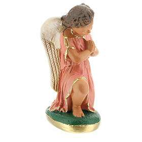 Statue of angels praying 15 cm plaster hand painted Arte Barsanti s5