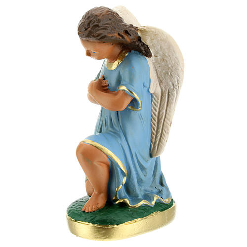 Statue of angels praying 15 cm plaster hand painted Arte Barsanti 2