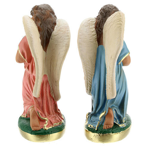 Statue of angels praying 15 cm plaster hand painted Arte Barsanti 6