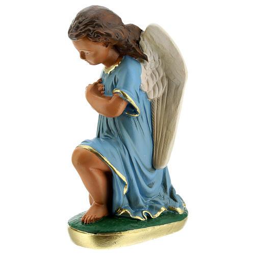 Estatua ángeles oración 20 cm yeso pintada a mano Arte Barsanti 3