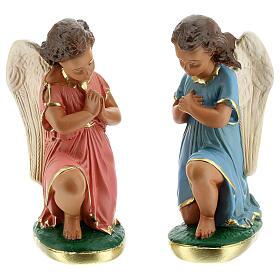 Statua angeli preghiera 20 cm gesso dipinta a mano Arte Barsanti s1