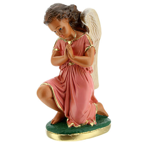 Statua angeli preghiera 20 cm gesso dipinta a mano Arte Barsanti 2