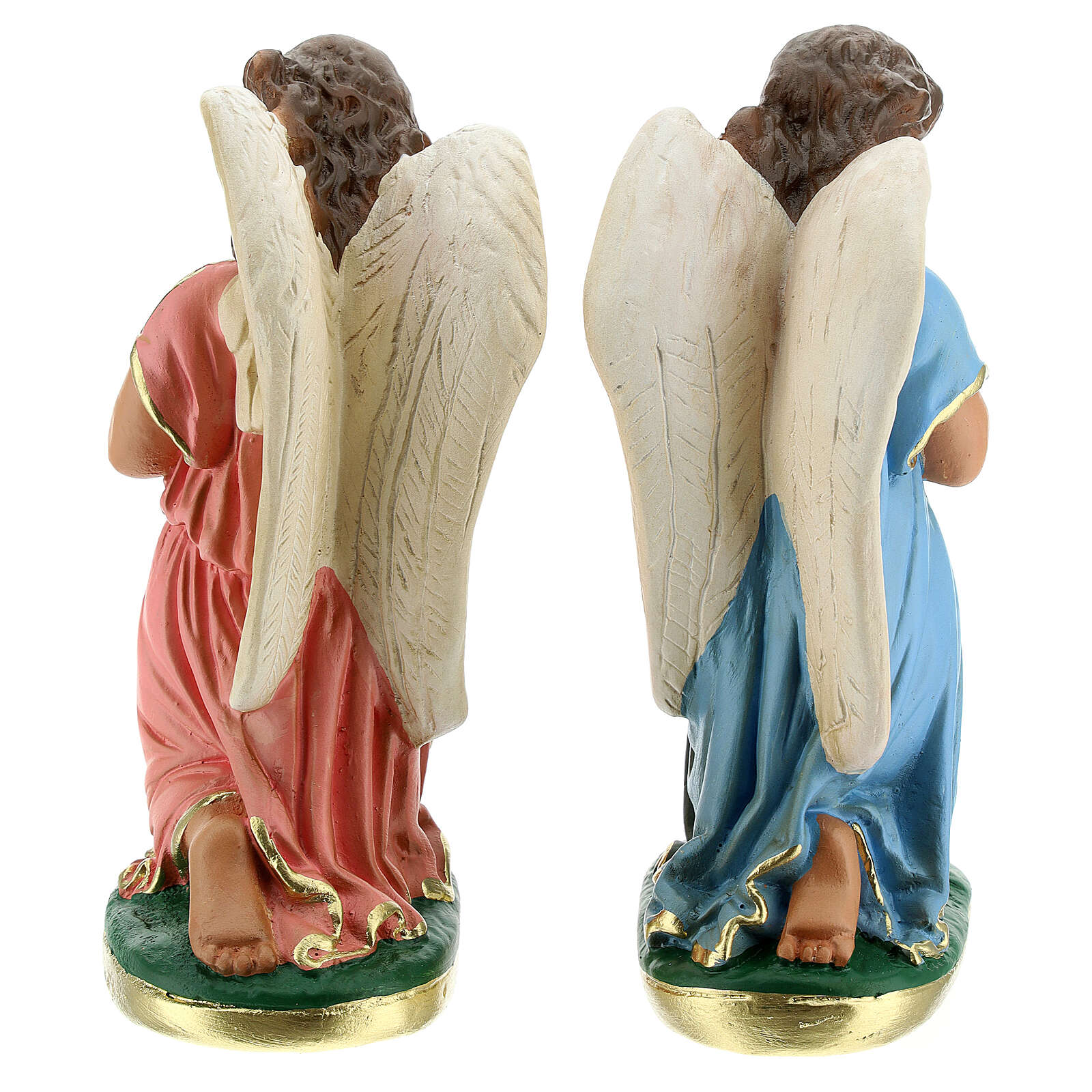 Angels praying statue 8 in hand-painted plaster Arte Barsanti 4