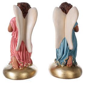 Praying angels hand painted plaster statue Arte Barsanti 30 cm s6