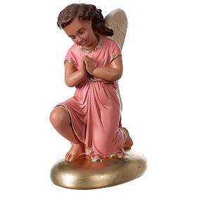 Anges en prière statue plâtre 30 cm peint main Arte Barsanti s2