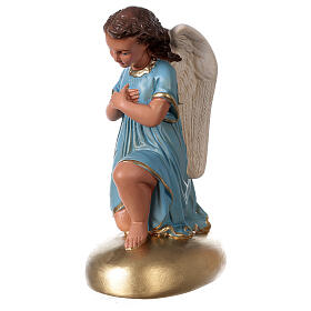 Anges en prière statue plâtre 30 cm peint main Arte Barsanti s3