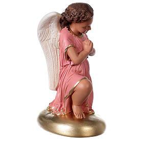 Anges en prière statue plâtre 30 cm peint main Arte Barsanti s4