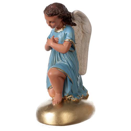 Anges en prière statue plâtre 30 cm peint main Arte Barsanti 3