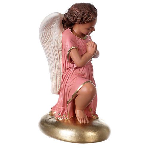 Anges en prière statue plâtre 30 cm peint main Arte Barsanti 4