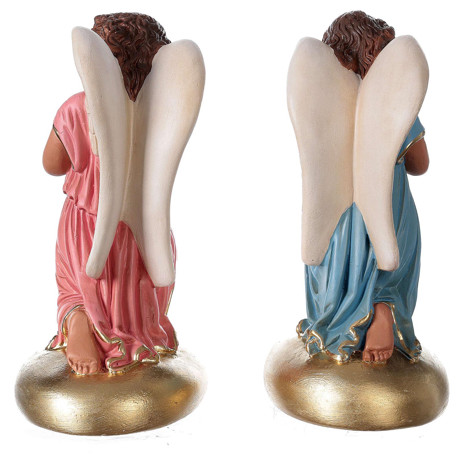 Imagem gesso anjinhos rezando 30 cm Arte Barsanti 4