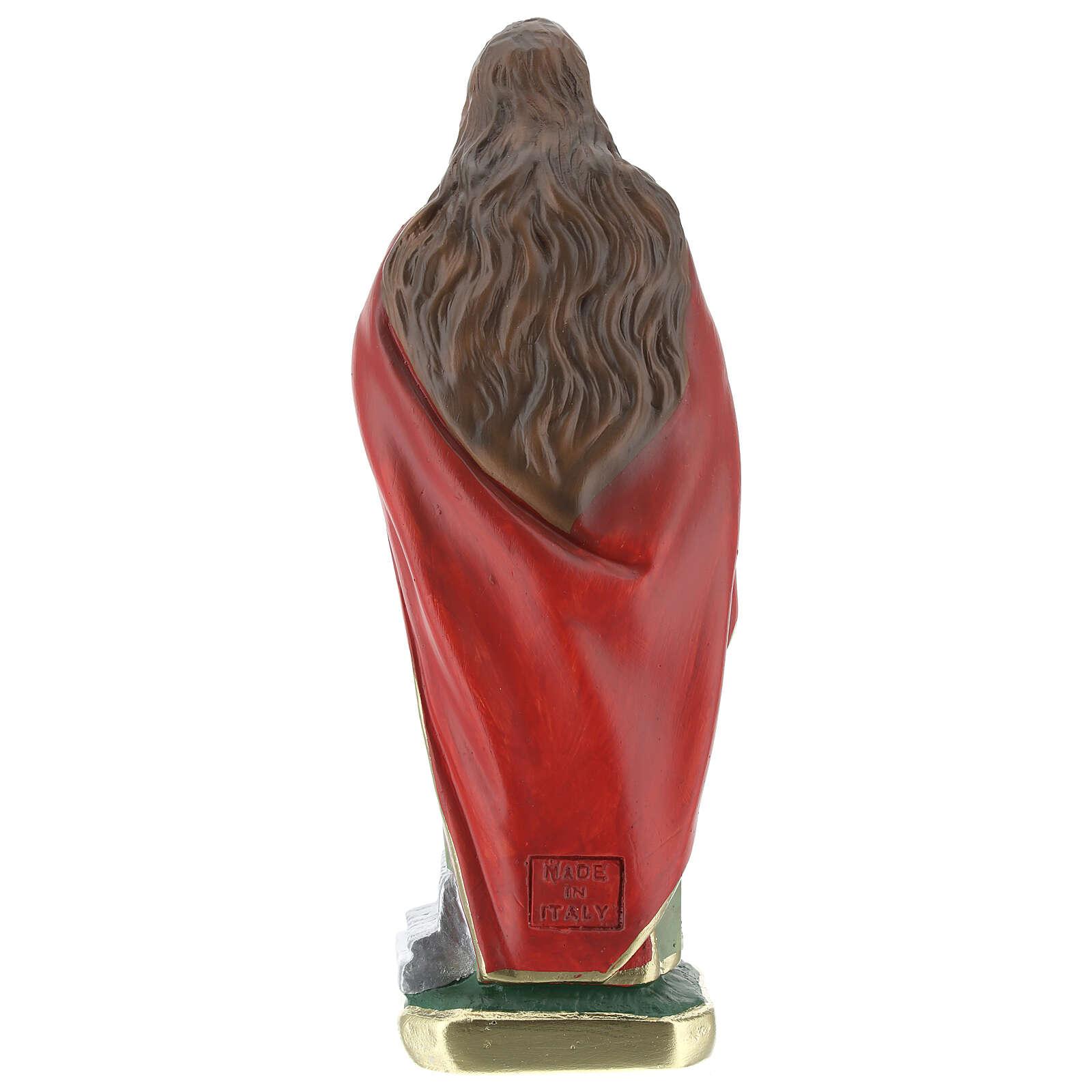 Statuette Sainte Cécile 20 cm plâtre Barsanti 4