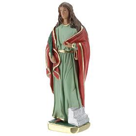 Statuette Sainte Cécile 20 cm plâtre Barsanti s2