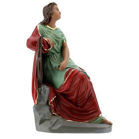 Sainte Cécile statue plâtre 30 cm peinte main Barsanti s5
