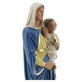 Vierge à l'Enfant 20 cm statue plâtre peinte à la main Barsanti s2