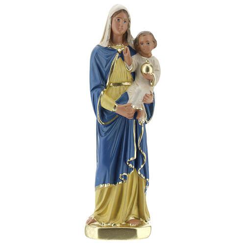 Vierge à l'Enfant 20 cm statue plâtre peinte à la main Barsanti 1
